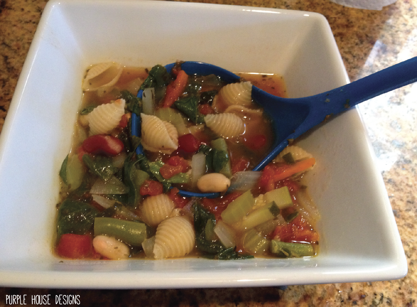 Better than Olive Garden Minestrone Soup | Purple House Blog