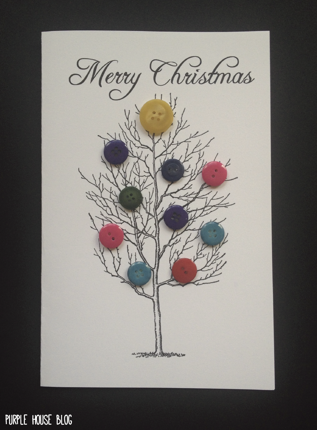 diy button holiday cards with 8 free downloadable