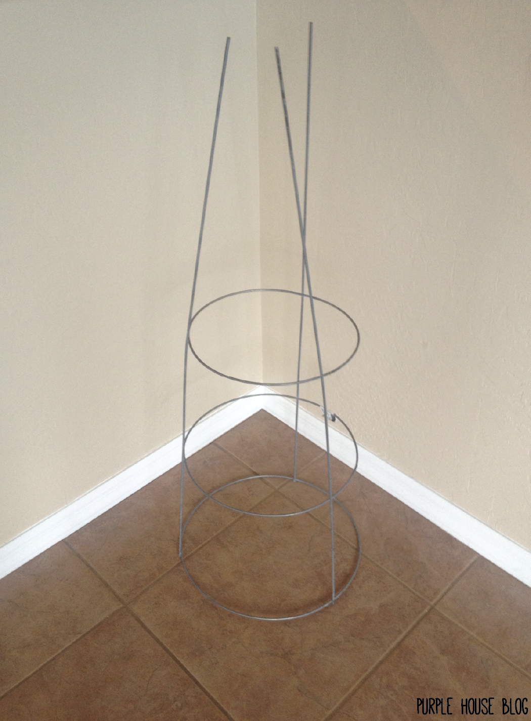 DIY 42″ Christmas Tree for Under $12 | Purple House Blog