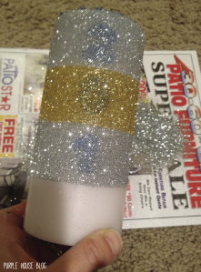 Glitter candle 2-05