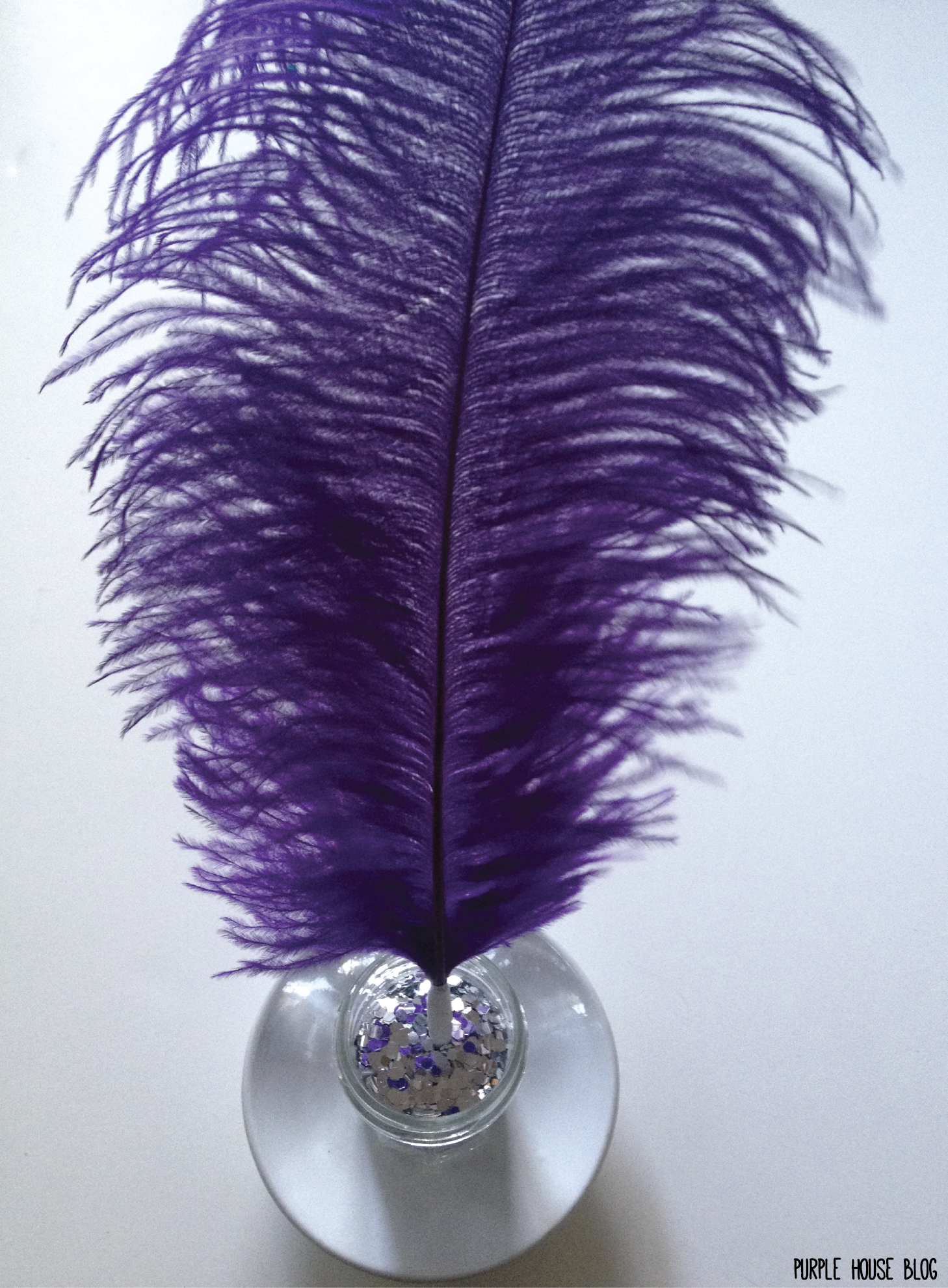 Diy Feather Pen And Holder Purple House Blog