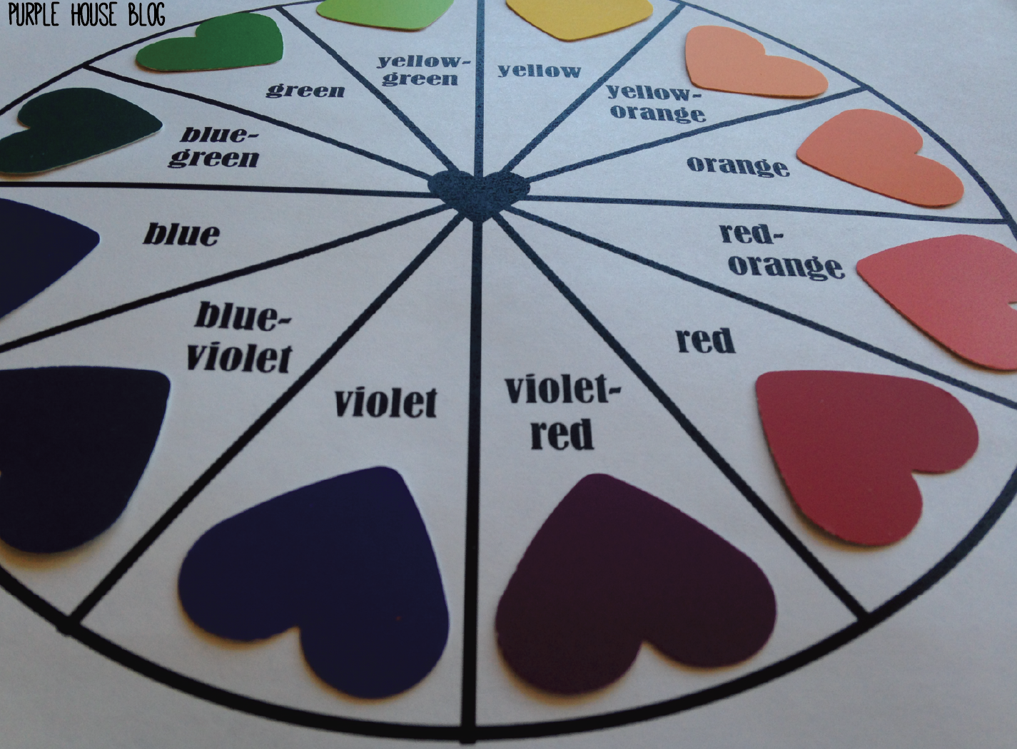 Color Wheel Purple House Blog