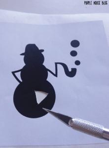 Snowman Stencil 2-02