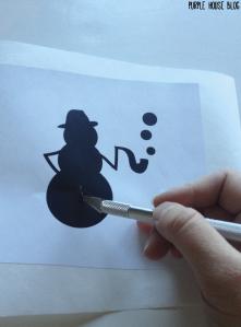Snowman Stencil 2-06