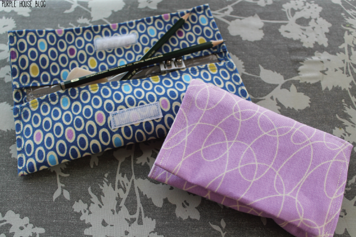 Velcro Pouch With Vinyl Lining Purple House Blog